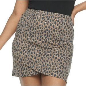 SO Juniors Mini Wrap Skirt,  Leopard Print,